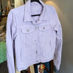 Free people lilac Jean jacket size small new